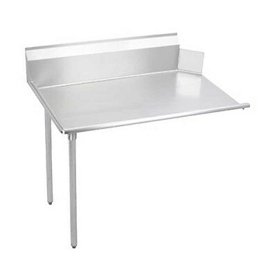 "Elkay Foodservice 72"" Clean Dishtable 16/300 S/s Straight with Galvanized Legs"