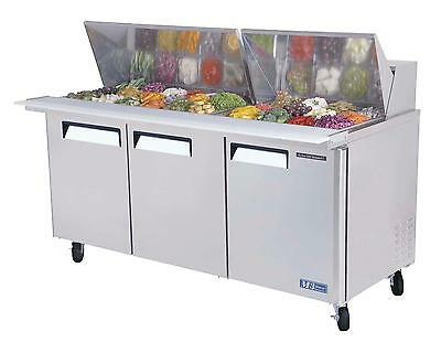 Turbo Air Mst-72-30 Cold Air Mega Top Sandwich Salad Prep Cooler 30 Pans 72In