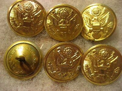 Vintage Uniform Buttons US Army For Coat lot of 6