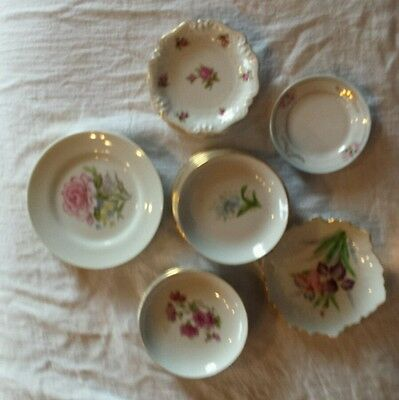 Lot of 16 Lovely Vintage Butter Pats Tea Bag Dishes, Small Plates