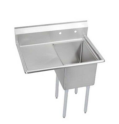 """Elkay Foodservice 1 Compartment Sink 18""""x24""""x12"""" Bowl 16/300 Ss 24"""" Drainboard -"""