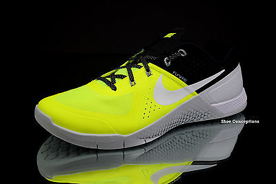 Nike Metcon 1 Volt White Black 704688-710 NEW Men s CrossFit Shoes Size 11.5 cd0d150d0