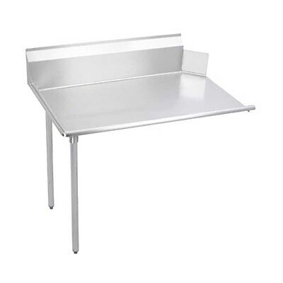 "Elkay Foodservice 96"" Clean Dishtable 16/300 S/s Straight with Galvanized Legs"