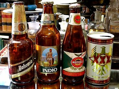 Vintage Beer Bottle/ Can ~ Indio, Bohemia, Tres Equis, Mexicali
