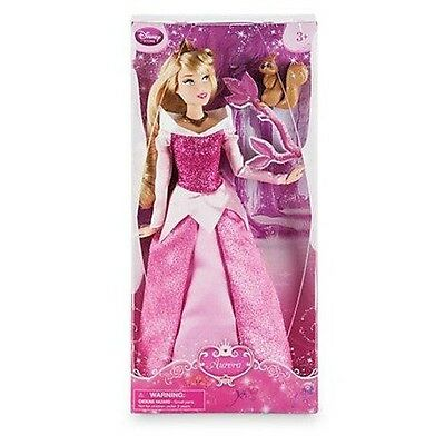 New Official Disney Sleeping Beauty 30cm Aurora Classic Doll With Squirrel