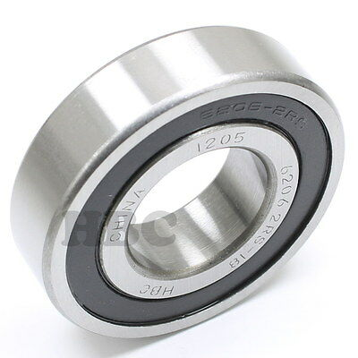 Radial Ball Bearing Hbc 6206-2Rs-18 With 2 Rubber Seals 1-1/8""