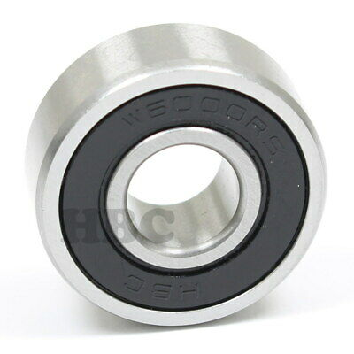 Ball Bearing Hbc W6000-2Rs Cartridge Type With 2 Rubber Seals 10X26X10 Mm