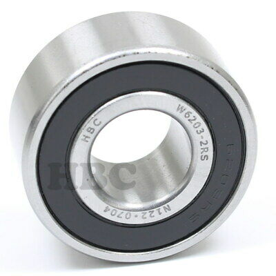 Ball Bearing HBC W6203-2RS Cartridge Type With 2 Rubber Seals 17x40x17.5mm