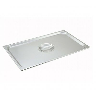 Winco S/s Full Size Steam Table Pan Cover Solid With Handle - Spscf
