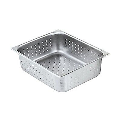 "Winco SPHP4 S/s Perforated Steam Table Pan Half Size 4"" Deep NSF"
