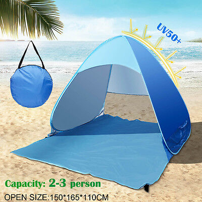 Pop Up tent Outdoor Automatic Instant Canopy Camping Beach Tent Shelter 3 Person
