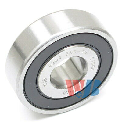 "Ball Bearing Wjb 6204-2Rs-10 With 2 Rubber Seals 5/8"" Bore"