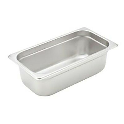 "Winco Stainless Steel Heavy Weight 1/3 Size Steam Table Pan 4"" - Spjh-304"