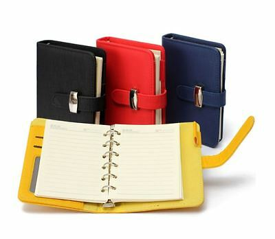 Pocket Diary PU Leather Cover Notebook Filofax Personal Organizer Planner USA