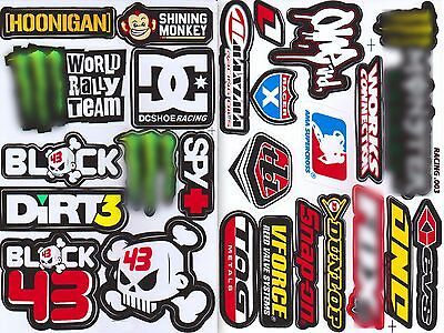 2 sheet ken block 43 dirt 3 skull bone racing decal sticker print die-cut vinyl