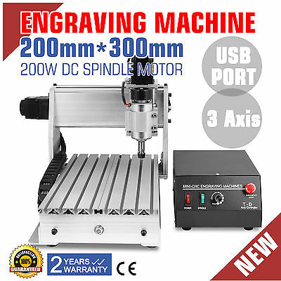 3 Axis 3020T Usb Cnc Router Engraver Cutting Cutter Artwork Carving Tool Good