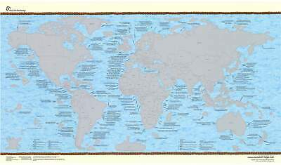 World Bucket List Scratch Map 975 x 560mm
