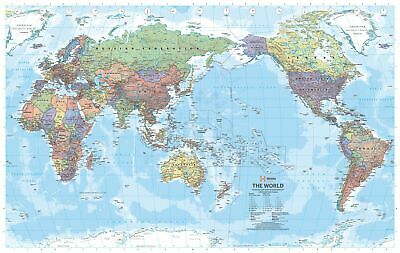 World Hema Political (Pacific) 1010 x 650mm Large Laminated Wall Map