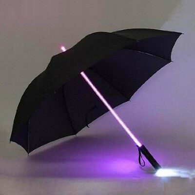 LED Light Up Umbrella Blade Runner Star Wars Transparent Colorful Flashlight