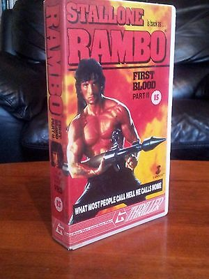 Rambo First Blood Part 2,  VHS Video Tape