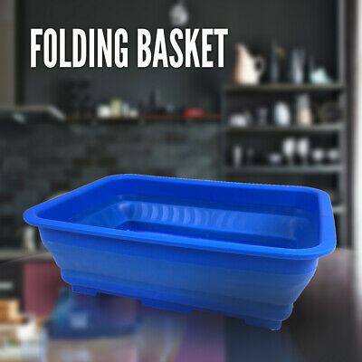 Collapsible Basket Tub Folding Container Camping Caravan Fishing Outdoor