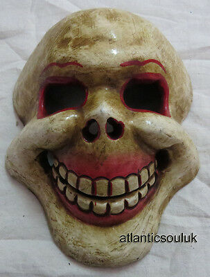 M407 Hand Crafted collectible home decor skull shape Wall Hanging WOODEN MASK