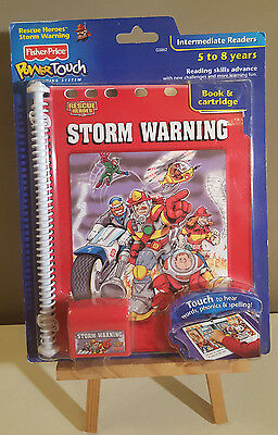 Fisher Price: Storm Warning Power Touch Learning System Book & Cartridge - NEW!