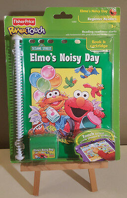 Fisher Price Elmo's Noisy Day Power Touch Learning System Book & Cartridge - NEW