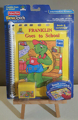 Fisher Price Franklin Goes to School Power Touch Learning System Book & Cart NEW