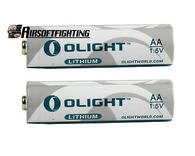 2X Olight AA 2900mAh 1.5V One-Single Non-rechargeable Battery for Surefire 6p 9p