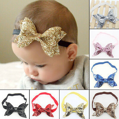Baby Sequin Headband Headwear Girls Bow Knot Headwrap Kids Hairband Hair Bands