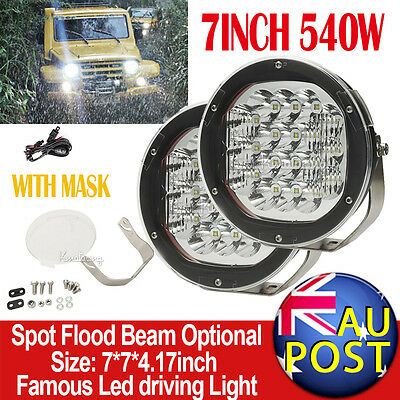 7' 540W CREE Spot Beam LED Work Light 4WD 4X4 Offroad Truck Jeep Driving LAMPS