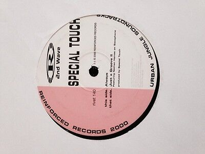 """Special Touch- Always/Just A groove II Reinforced Records Drum & Bass 12"""" Vinyl"""