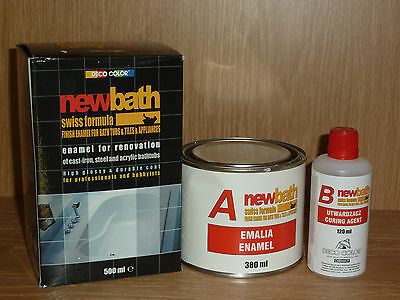 White Quick Dry Enamel Bath Sink Paint Tubs Tiles Renovation Bathtubs 500ml;