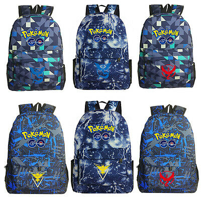 2017 New Pokemon Go Luminous Backpack Galaxy Rucksack Travel Shoulder School Bag
