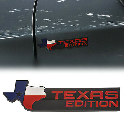 New ABS Texas Edition Auto Emblem Badge Sticker Decal for Chevrolet Chevy Black