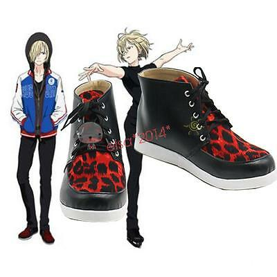 New Yuri!!! on Ice Plisetsky Yuri Cosplay Shoes Leopard Print Lace up Sneakers