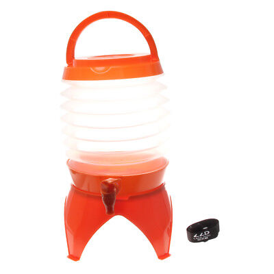 5L Collapsible Folding Water Dispenser Portable Drinks Container w-Tap
