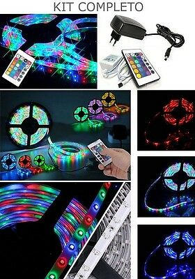 Striscia A Led Smd 3528 300Led 5 Metri Strip Rgb Bobina Luce Multicolor + Colori
