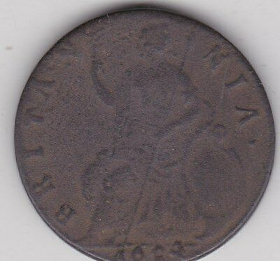 1694 William & Mary Copper Half Penny In A Well Used Fair To Fine Condition