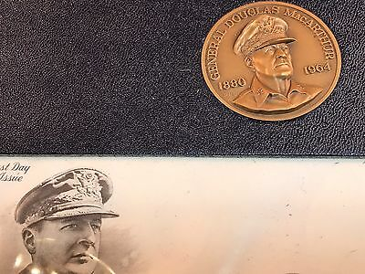 5 *****Star General Douglas MacArthur Profile Commemorative Medal And Stamp Set
