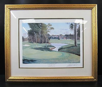 """Graeme W Baxter Signed & Framed Print Titled: 10th Hole The Belfry - 22.5"""" x 19"""""""