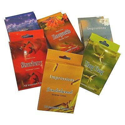 Impressions Incense Joss Cones Dhoops 15 Cones per Packet