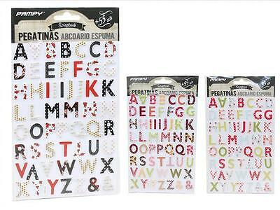 Blister Stickers Letras Adhesivas