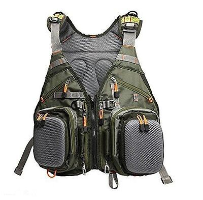 Fly Fishing Backpack Adjustable Size Mesh Fishing Vest Backpack- JL-026