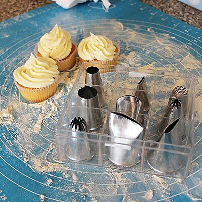 9pcs LARGE Icing Piping Nozzles Tips Cup Cake Cookie Decorating Pastry Tools DIY
