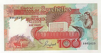 Seychelles 100 Rupees ND 1989 Pick 35 UNC Uncirculated Banknote