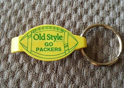 Vintage Green Bay Packers Bottle Opener   Keychain, Nos