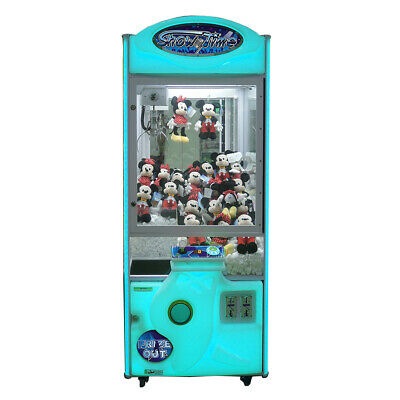 "Coastal Amusements Cyan 30"" Showtime Crane Claw Prize Redemption Machine no DBA"
