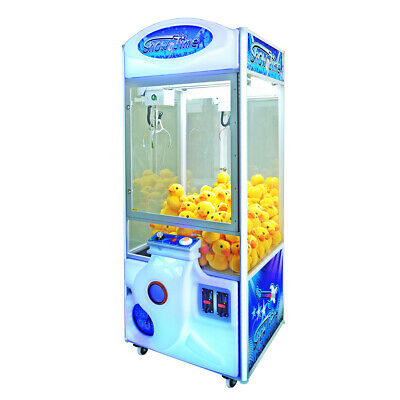 "Coastal Amusements White 30"" Showtime Crane Claw Prize Redemption Machine no DBA"